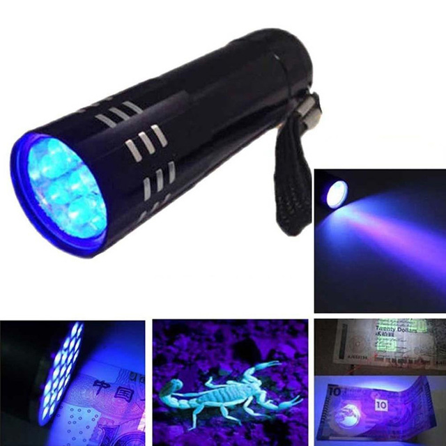 UV Ultra Violet 9 LED Flashlight