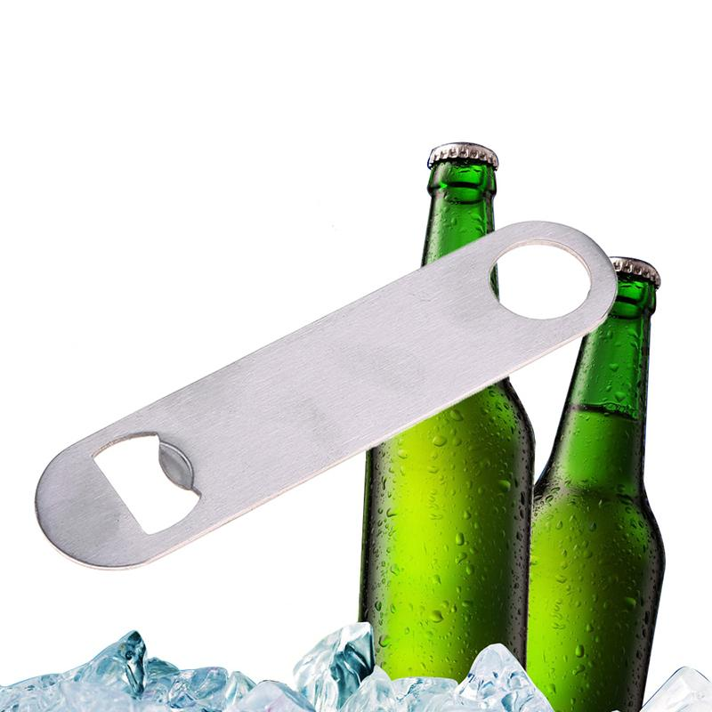 Speed Bottle Cap Opener Unique Large Flat Stainless Steel Remover Bar Blade #71569(China (Mainland))