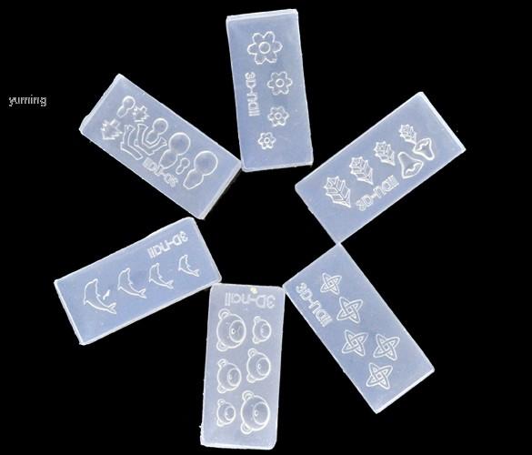 Mais barato! 30 pcs acrílico 3D Nail Art Mold para Nail Art Design decoração DIY SET Drop Shipping b014