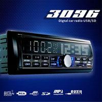 Automotive auto Car radios 3096  FM USB SD 18 stations support MP3 WMA WAV format