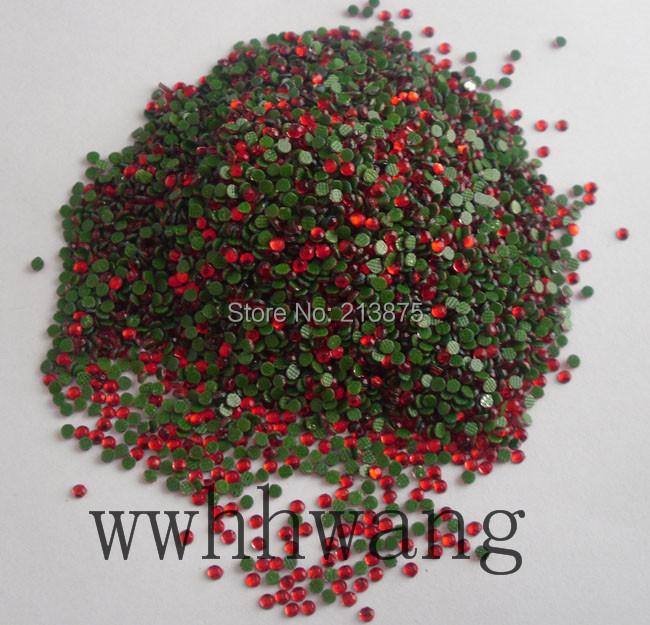 Free shipping SS6 2mm B Grade Hotfix Crystals Rhinestone Beads Red 1440pcs/bag Garment Accessories(China (Mainland))