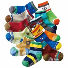 (12 Pairs/lot) 100% Cotton Baby Socks High Quality Anti-Slip Mix Design Toddler Socks Boys Girls Freeshipping
