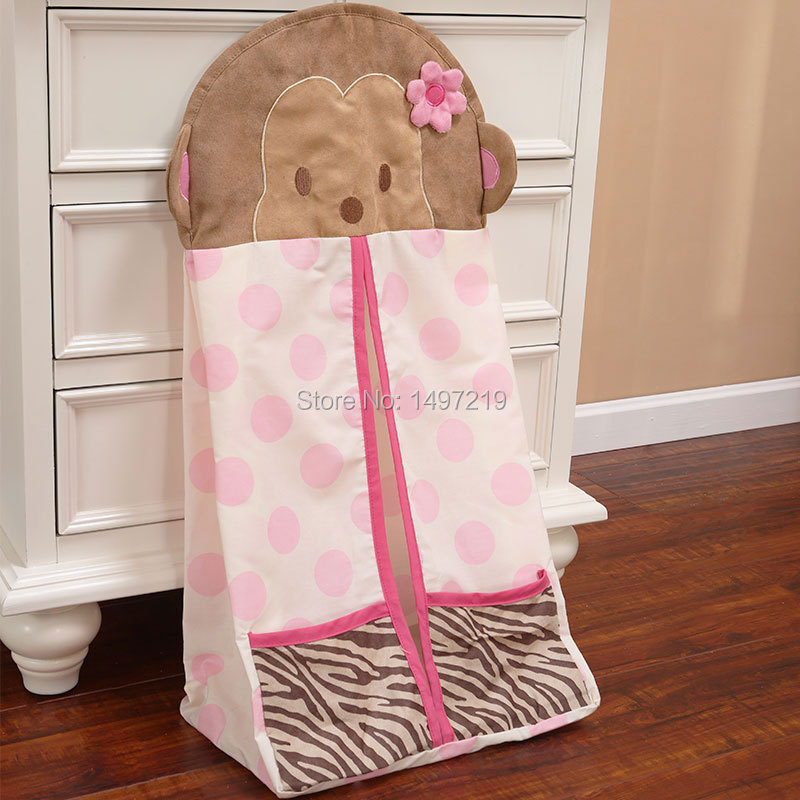 baby girls pink nappy stacker for diaper storage polkdot design(China (Mainland))