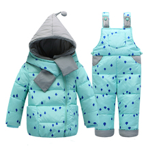 Chaqueta de abrigo de invierno de niño con plumas – Talle 1-4 años