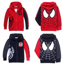 New  Spring Autumn Children's Coat boys spiderman embroidered jackets kids clothes baby outerwear 5pcs/lot(China (Mainland))