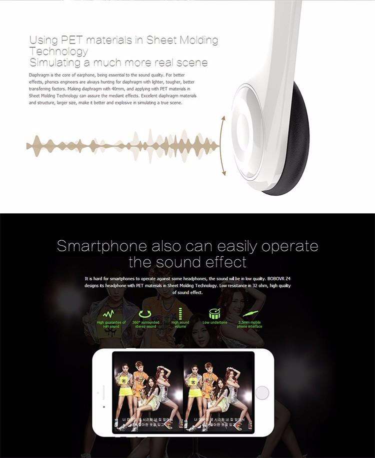 ถูก ลดกระหน่ำ!ต้นฉบับBoBOvr Z4แว่นตาเสมือนจริงbobo VR Z4ด้วยหูฟังสำหรับมาร์ทโฟน4.0-6.0 ''+บลูทูธGamepad