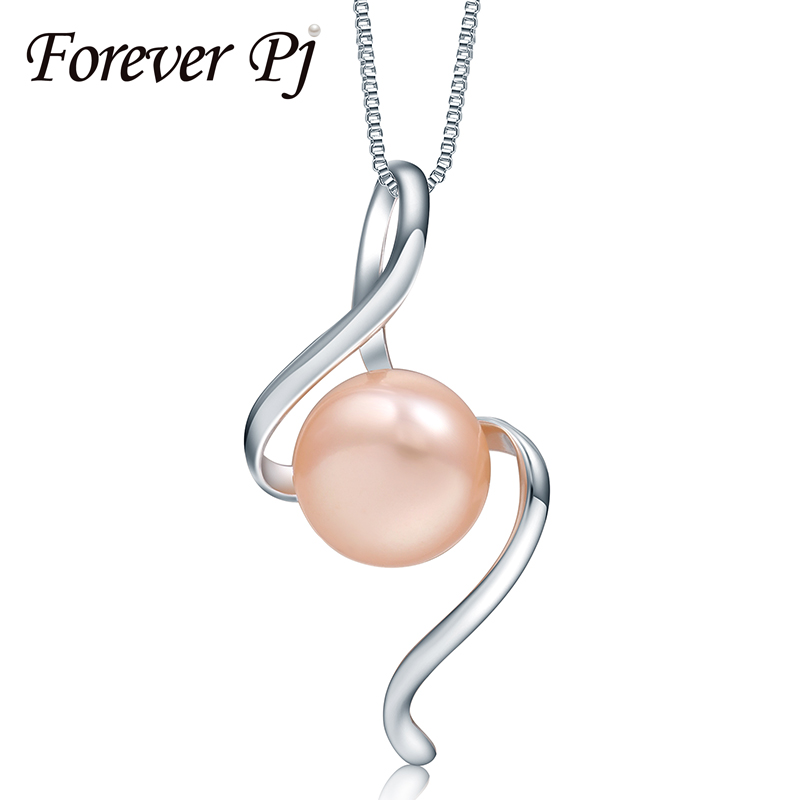 Promotion Price 925 Sterling Silver S Sexy Shape100% Natural Freshwater Pearl Pendants for Women's Jewelry 10-11 Pearl Necklace(China (Mainland))