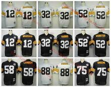 Stitiched,Pittsburgh ,Terry Bradshaw,Franco Harris,Bettis,Mike Webster,Jack Lambert,Joe Greene,Lynn Swann,T camouflage(China (Mainland))