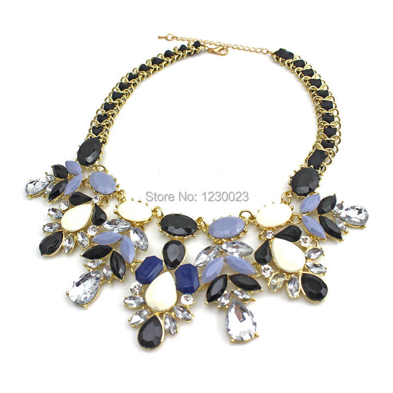new fashion jewelry Water drop bib choker shourouk style Accessories Pendant Rope chain short statement necklace for woman 2015(China (Mainland))