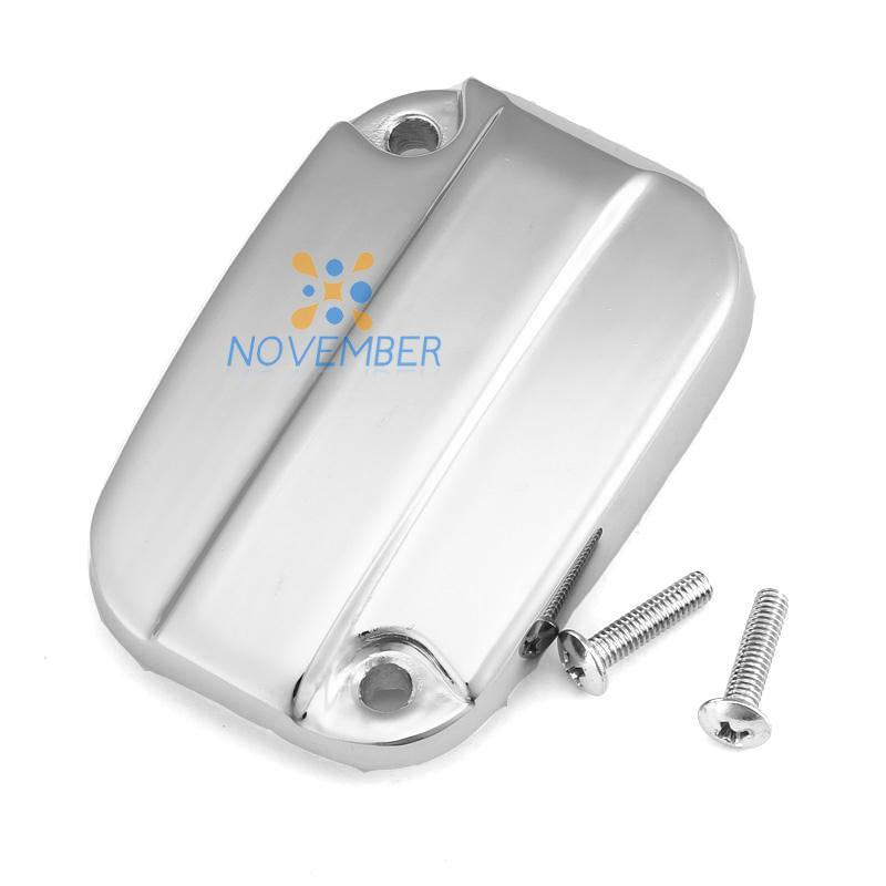 Chrome Motorcycle Front Brake Fluid Reservoir Cover Cap For Harley Davidson Electra Glide Road King 2007~2012(China (Mainland))