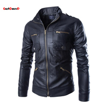2015 New Autumn Leather Jacket Men Jaqueta De Couro Masculina Brand Mens Jackets And Coats Chaqueta Hombre Motorcycle Jacket(China (Mainland))