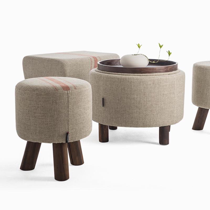 shoes stool wood ottoman stool dressing stool minimalist(China (Mainland))