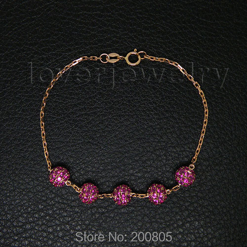 Jewelry Sets Vintage Solid 14k Rose Gold Natural Ruby Bracelet NA0020<br><br>Aliexpress