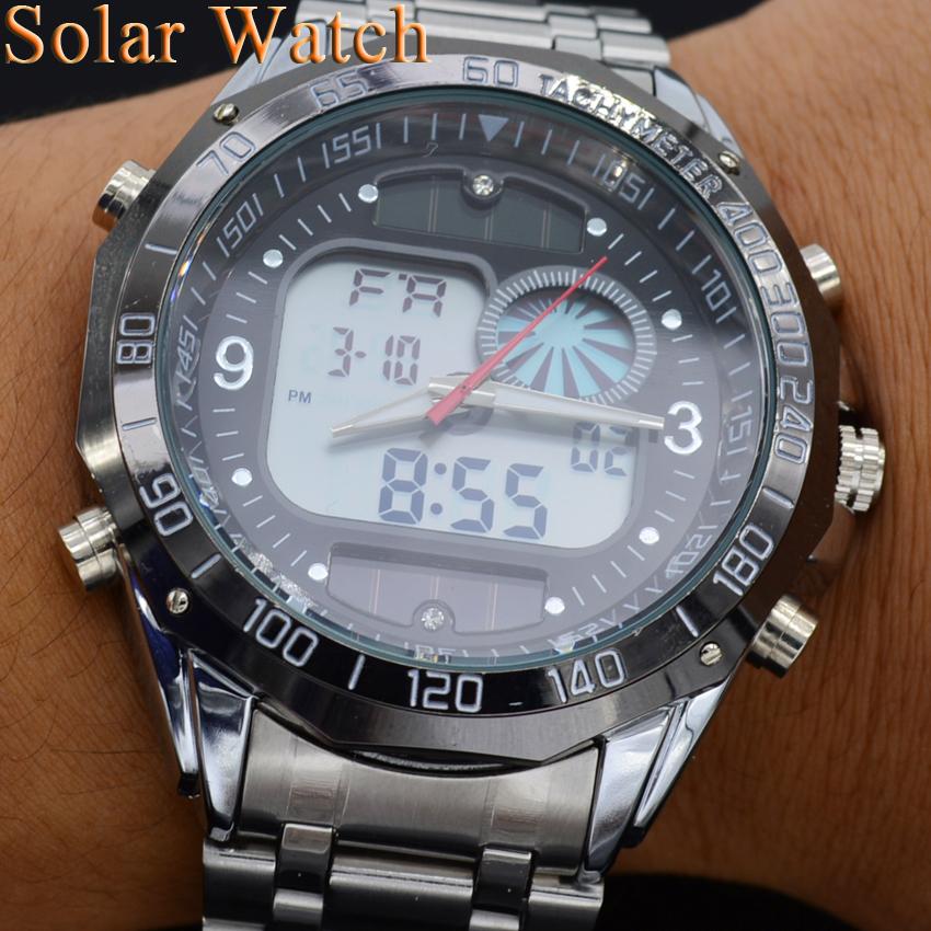 Новые спортивные часы с солнечной батареей skmei доставят вам настоящее эстетическое удовольствие благодаря своему армейскому дизайну в строгой цветовой гамме.