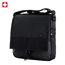Swisswin Business Casual Messenger Bag Brand Casual Shoulder Bag Medium Size Black Book Satchels Crossbody Waterproof Zipper Bag(China (Mainland))