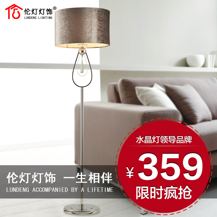 Popular crystal floor lamps sale buy cheap crystal floor lamps sale lots from china crystal for Lampadaire salon