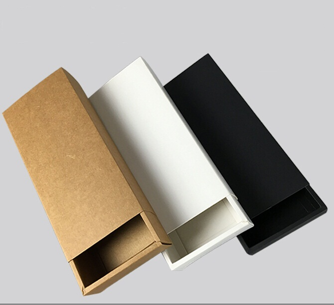 Brown Drawer Cardboard Boxes Soap Gift Tea Jewel Bow Tie Bakery Cookie Packaging Kraft Paper Boxes(China (Mainland))