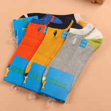 Male summer 100% cotton sock cartoon embroidery men's socks slippers sports decorate dress and shoes man