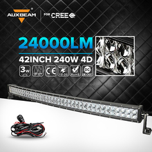 Auxbeam Cree 42 inch 240W 4D Curved Car LED Light Bar Led Work Driving Light  12V 24V Truck ATV Offroad 4WD 4x4  Led Light Bar(China (Mainland))