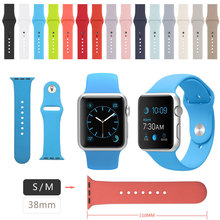 38MM 15 Colors SM Sport Band for Apple Watch Band With Connector Apdater,Silicone Band for iwatch