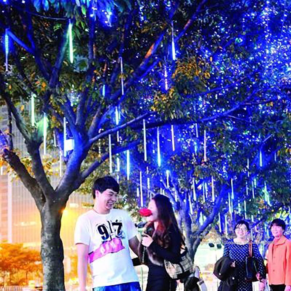 Гаджет  8pcs 50cm Meteor Shower Rain Tubes Christmas Lights Led Lamp 100-240V Outdoor Holiday Light New Year Decoration FREE SHIPPING None Свет и освещение