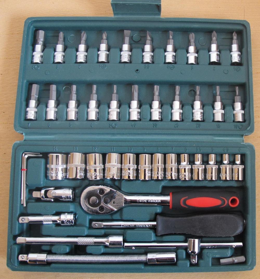 buy the car wrench sleeve ratchet wrench 46 socket set socke. Black Bedroom Furniture Sets. Home Design Ideas