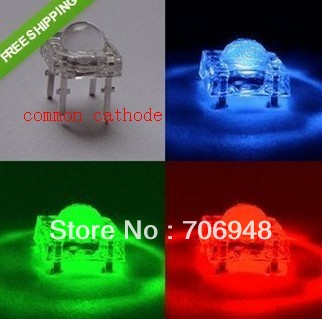 5mm Piranha Super Flux Common Cathode RGB LED(China (Mainland))