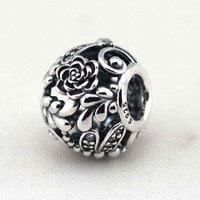Осень стиль стерлингового серебра 925 пробы украшения стрекоза лужка бусины с камнями Fit пандора оригинальный подвески браслеты DIY ювелирных украшений