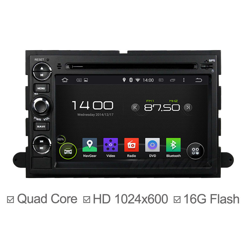 Quad Core Car DVD Player Android 4 4 For Ford Fusion Explorer 500 F150 F250 F350