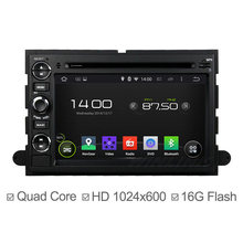Quad Core Car DVD Player Android 4.4 For Ford Fusion Explorer 500 F150 F250 F350 F450 F550 Focus Edge Ipod Radio GPS Navigation