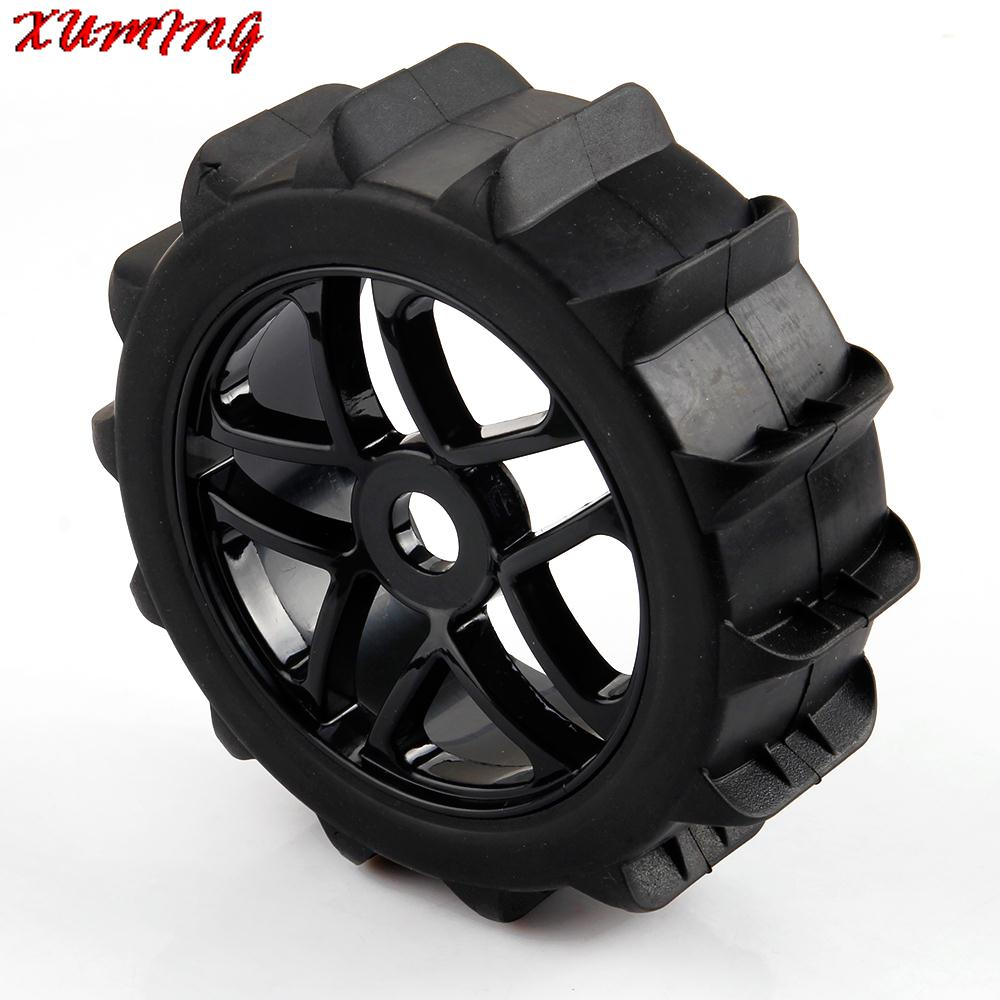 Beach Desert Tires Snow Tyre Wheels Hex 17mm 1/8 RC Road Buggy - XUMING store