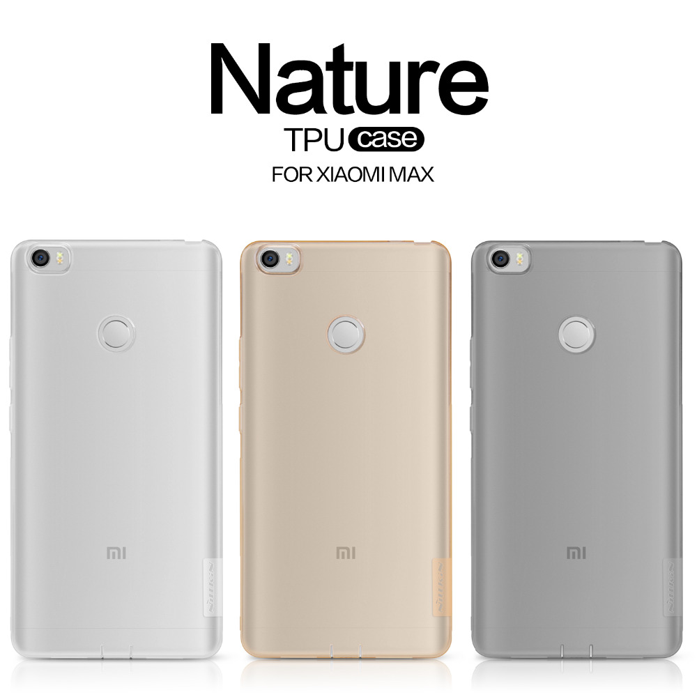 Nillkin ultra thin soft case for Xiaomi Max protective case for Xiaomi Max cover Nature TPU translucent back cases shell(China (Mainland))