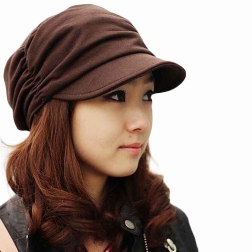 Amazing Fashion Bouffancy Women Army Military Cap Flat Top Hat Student Hat Vintage Navy Hat