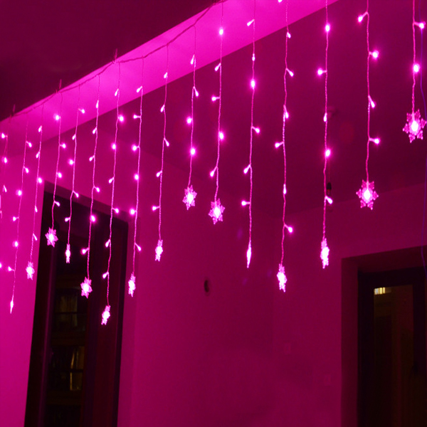 4*0.6m 120leds Outdoor Party LED Garland Ornaments 220V String Fairy Christmas Wedding Decoration led curtain lights(China (Mainland))