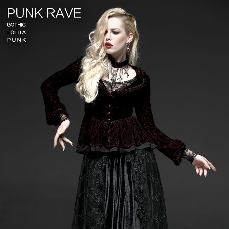 Punk rave Gothic Red Violet Victorian Visual Kei Arwen Top Women Jacket XS-XXL Y497Одежда и ак�е��уары<br><br><br>Aliexpress