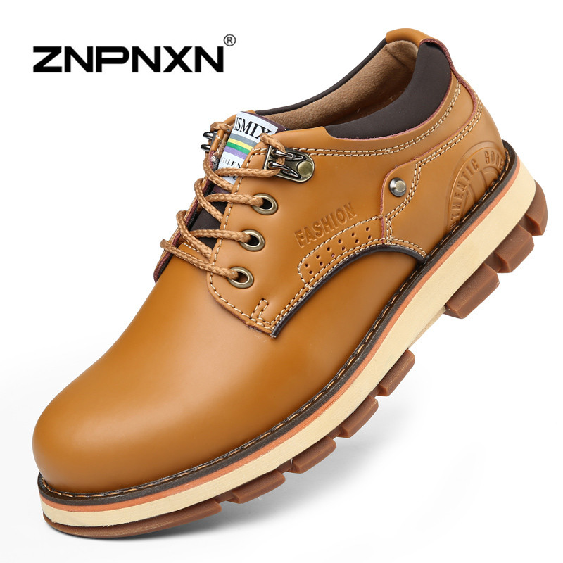Winter Mens Work Boots Casual Genuine Leather Ankle Boots For Men Shoes Brown Autumn Boots Men Winter Shoes 2015 Zapatos Hombre