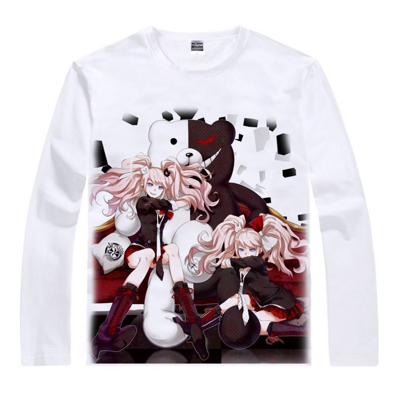 Japanese Danganronpa anime sports t-shirt Monokuma lit. Monobear cotton shirt Makoto Naegi Cosplay Christmas Costumes clothing  HTB1yhaVGFXXXXbAXFXXq6xXFXXXj