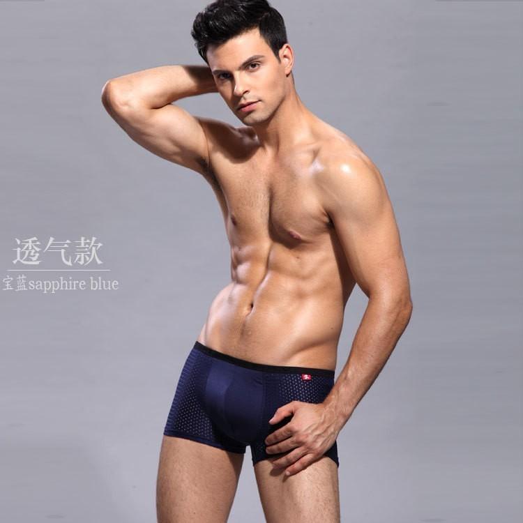 1pcs 2015 brand new Underwear men panties low-waist men shorts 100% cotton solid underwear men boxers free shipping(China (Mainland))