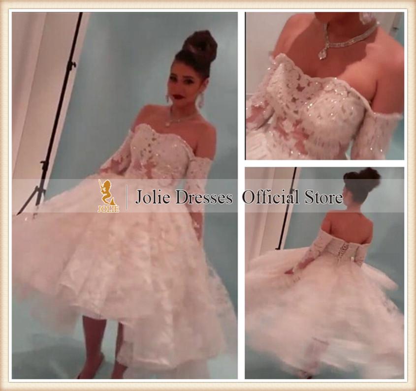 Real Photos vestido de novia 2015 Yousef Aljasmi Myriam Fares Ball Gown Long Sleeve Wedding Dresses - Hong Kong Jolie Dress Co., Ltd. store