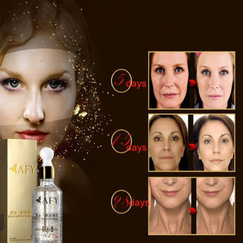 24K Gold Anti Aging Skin Care Facial Revive Treatment Essence 50ml Beauty Salon Equipment Free Shipping(China (Mainland))