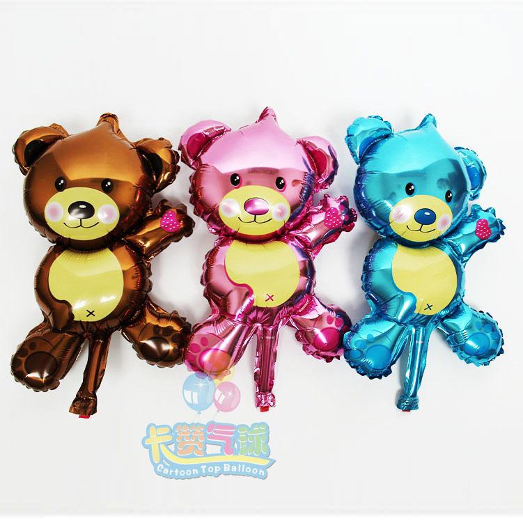 50pcs/lot 16inch Mini Bear air balloons wedding/party decoration Foil helium Ballons Happy birthday kids Children classic toys(China (Mainland))