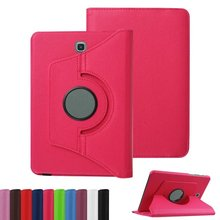 Free shipping For Samsung Galaxy Tab A T550 T555 PU leather 360 Rotating Stand Case cover For Galaxy Tab A 9.7inch