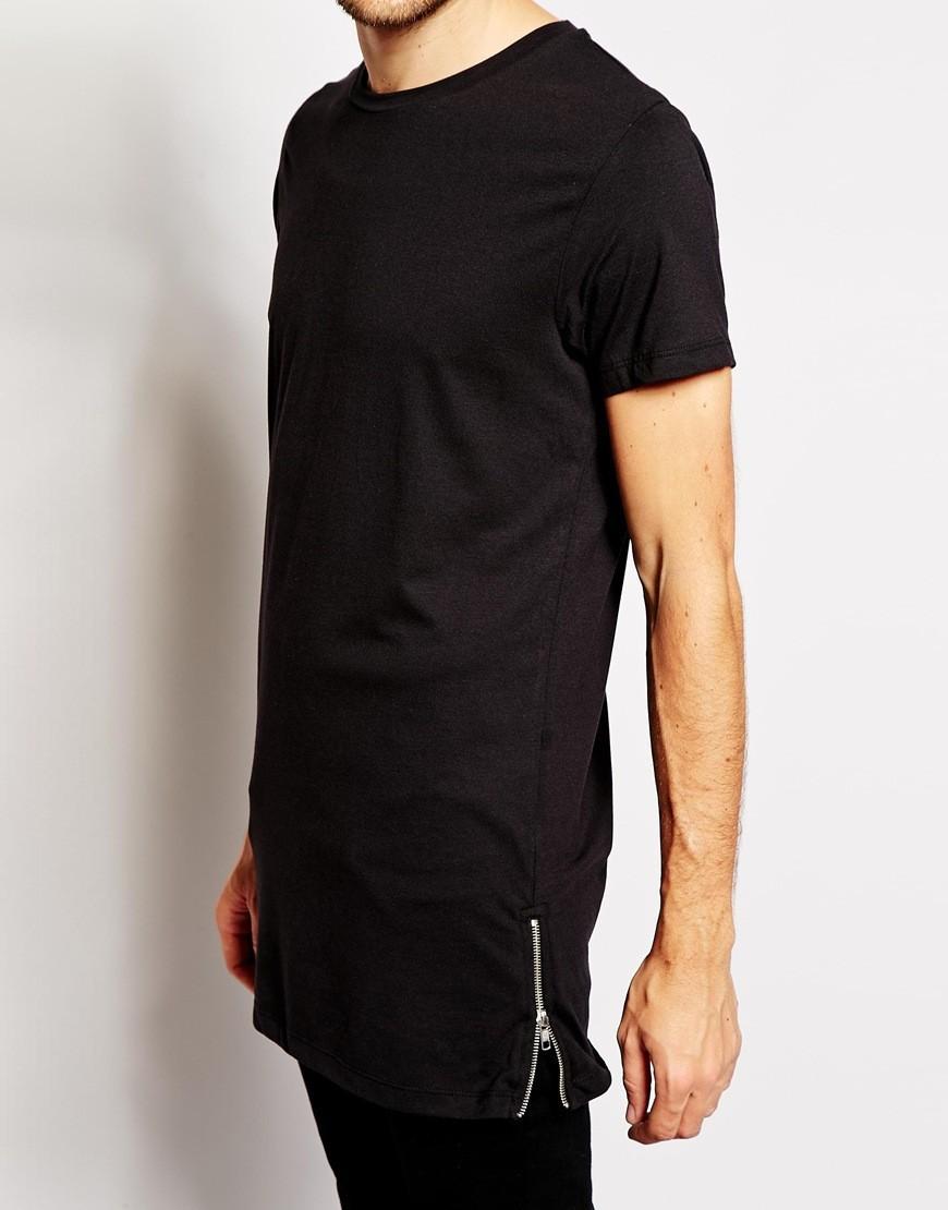 Купить футболку удлиненную мужскую