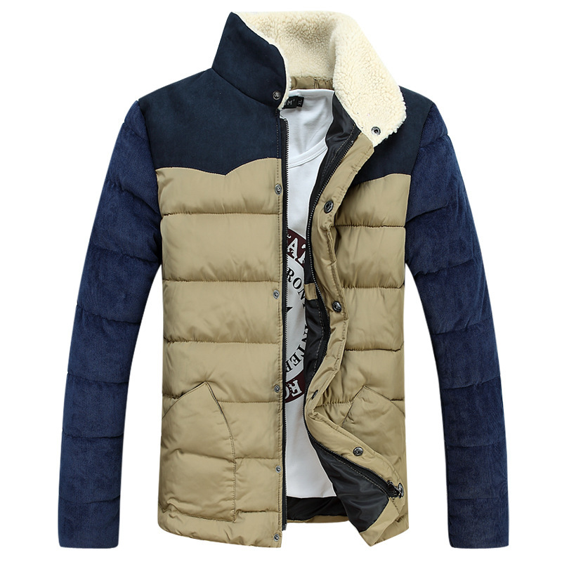 2015 New down jacket men winter jacket men Warm Corduroy coat with foil jacket jaqueta masculina chaqueta hombre(China (Mainland))