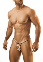 Leopard print panties mens sexy low-waist bikini men's briefs underwear elastic tight-fitting men's slim hip belts(China (Mainland))