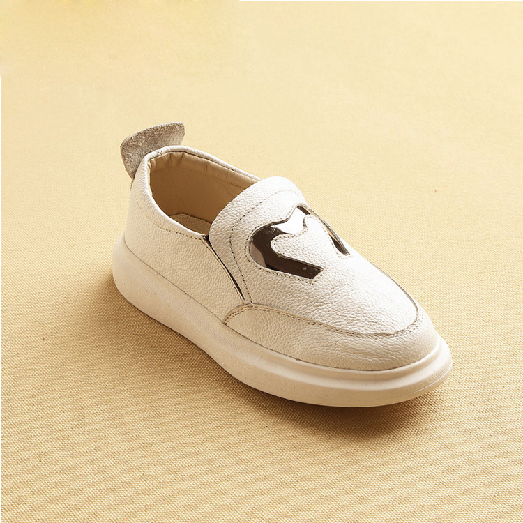 Genuine Leather Kids Shoes 2016 Boys Girls Sneakers Candy Color Children Footwear Real Leather Casual Shoes Sneakers bgs46