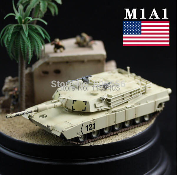 1:72 the classic of the U.S.A M1A1 Abrams tank model toys collection Military enthusiasts armored car World of tanks(China (Mainland))