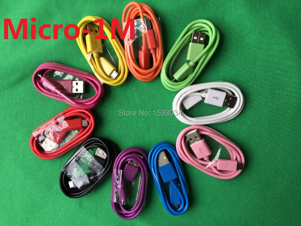 1M/3FT Colorful 5 Pin Micro USB Charger Cable Sync V8 Cords For Samsung Galaxy S6 S5 S4 Note4 HTC Lenovo Huawei Xiaomi Etc