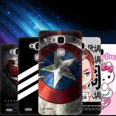 Thin Simple design value offers huawei ascend mate 7 Case Slim Plastic Case+colored cartoon cover For huawei mate 7 case(China (Mainland))