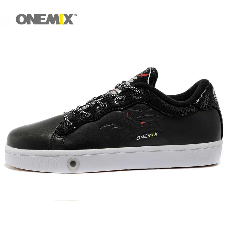 ONEMIX Low top shoes classic Unisex leather skateboarding shoes men's sport sneakser Autumn & Winter boy shoesl(China (Mainland))